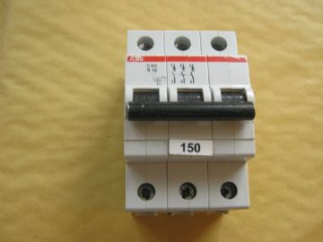 ABB S203 B16 16 AMP TRIPLE POLE MCB CIRCUIT BREAKER